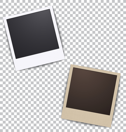 photo: Photo frame on white a plaid background with shadow