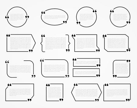 フレームを引用します。印刷情報デザインの引用符と空白のテンプレート。 写真素材 - 48650716