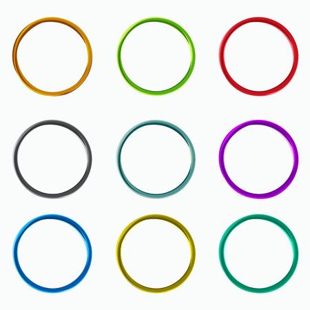 Kleur abstracte cirkels. Loops logo elementen van de sjabloon