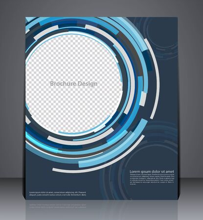 catalogs: Abstract digital business brochure flyer design in A4 size, layout cover design in blue colors