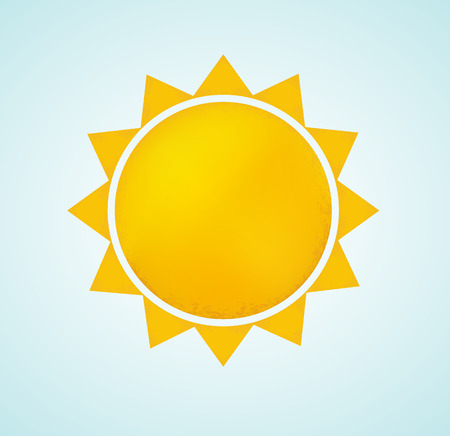 summer nature: Sun icon with rays. Abstract summer symbol of nature.