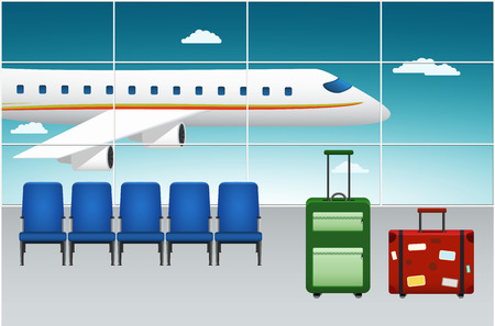arrival: Airport Terminal. Arrival Flight. Illustration