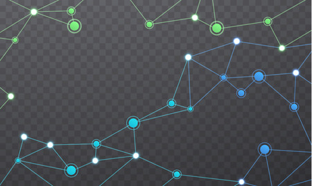 red de comunicación inalámbrica. estructura geométrica poligonal con malla de color de color. conexiones a Internet en el fondo transparente.