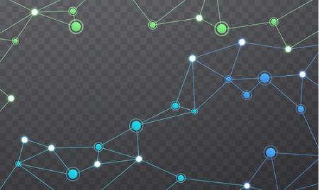 rete di comunicazione senza fili. Geometrica struttura poligonale maglia di colore di colore. connessioni Internet su sfondo trasparente.