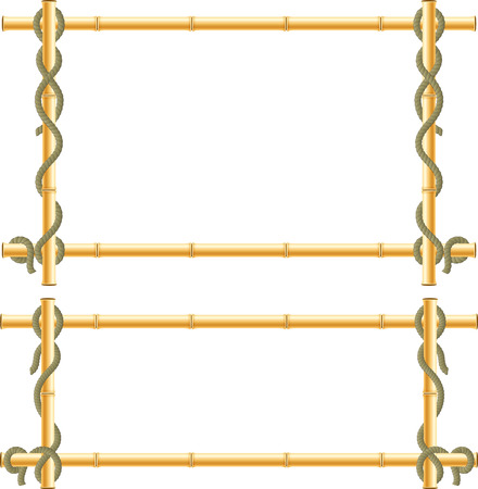 crone: Wooden frame of bamboo sticks swathed in rope. Illustration
