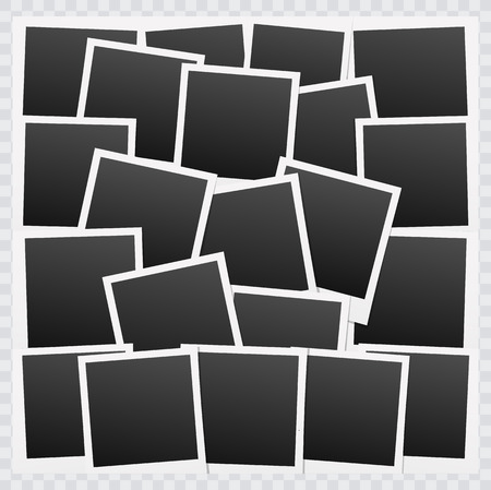 photo frames: Background with blank photo frames.