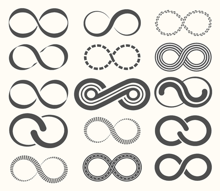 set symbols: Infinity symbol set,15 signs of eternity.