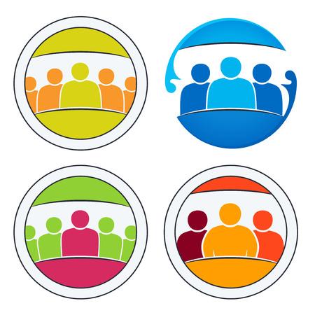 Gemeenschap van mensen bij elkaar. Team en teamwork van de groep.