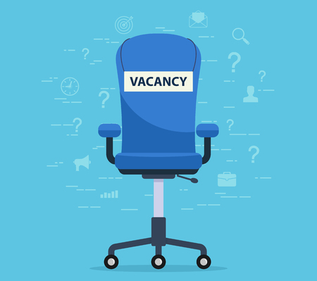 vacant: Office chair with a vacant seat. Concept finding an employee to work.