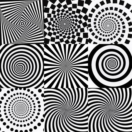 Spiral with vortex effect. Twisted futuristic effects. 일러스트