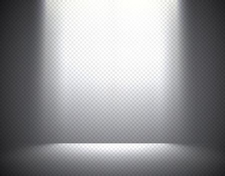 night club interior: Scene illumination, transparent effects on a plaid dark  background. Bright overhead lighting. Illustration