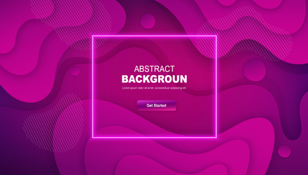 Dynamic gradient abstract background. Minimal geometric design with dots and liquid shapes.
