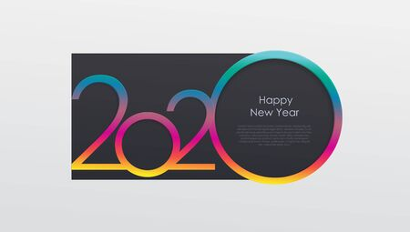 2020 holiday card calendar happy new year. Christmas theme of congratulations, invitations.