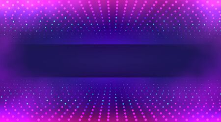 Tech background with colorful particles, data transfer and acceleration.