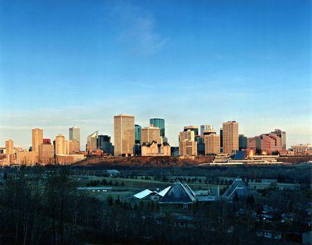 alberta: Edmonton Skyline, Alberta, Canada  Stock Photo