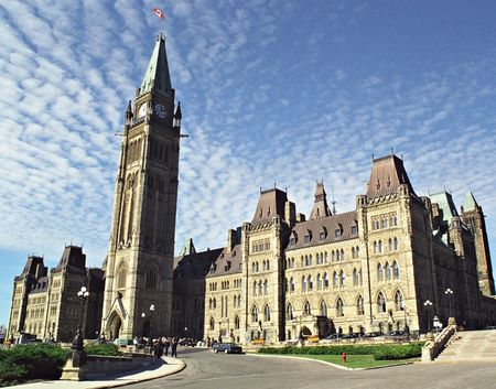 Ottawa Parlement Building Stockfoto