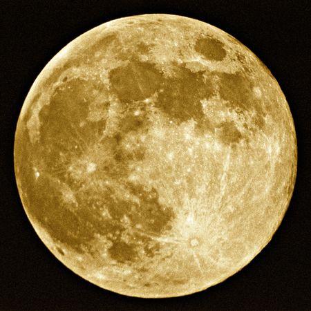 loup garou: Pleine lune r�colte  Banque d'images