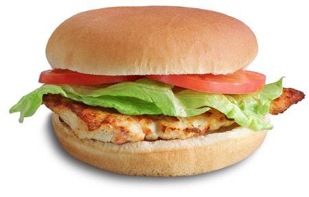 carne asada: Hamburguesa de pollo