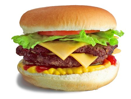season photos: Hamburger Double Cheese Burger Stock Photo