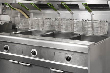 oven range: Stainless Steel Commercial Kitchen Stock Photo