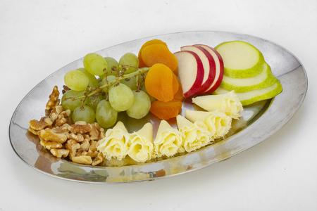 Cheese And Fruit Reklamní fotografie