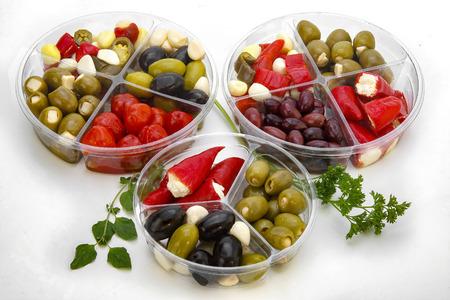 Fresh Italian olives antipasto