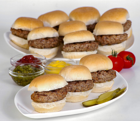 Kleine Burgers Stockfoto