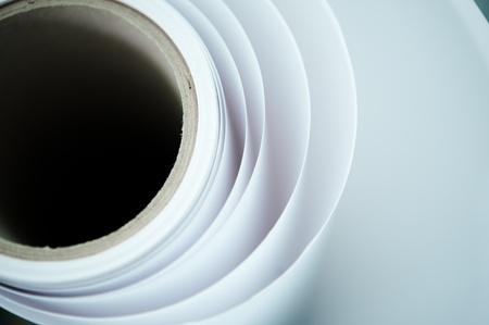 roll of paper: print shop paper roll topshot