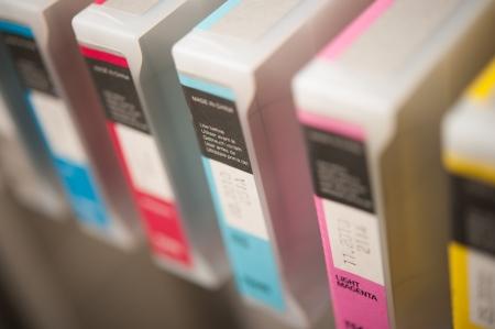 Detail of inkjet printer cartridges