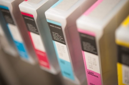 formats: Detail of inkjet printer cartridges
