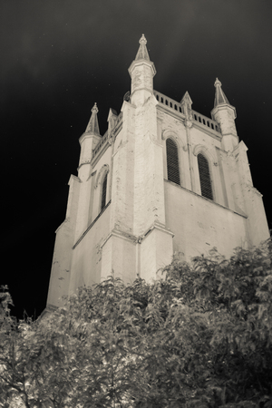 night view church Banco de Imagens