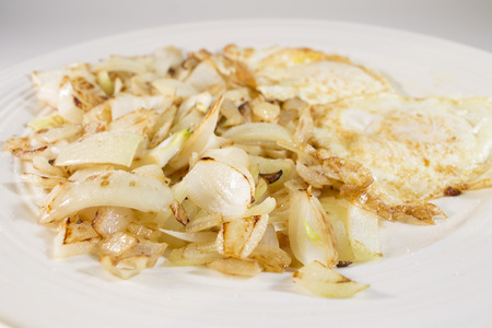 onion and eggs