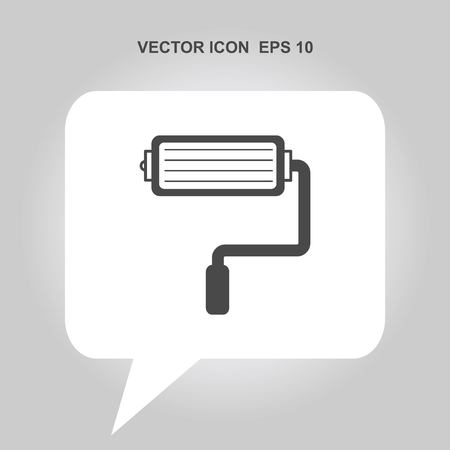 house painter: paint roller vector icon Illustration