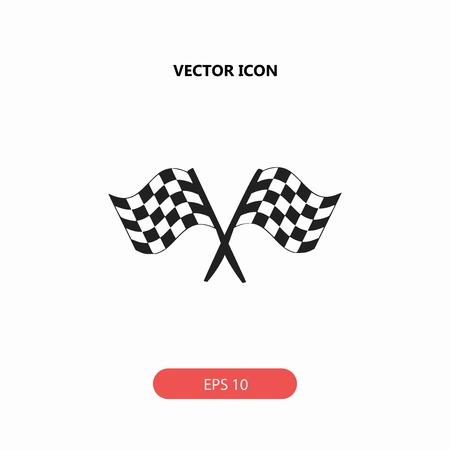 racing flag vector icon Illusztráció