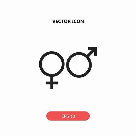 gender vector icon Illustration