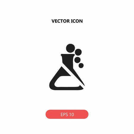 poison bottle: flask vector icon Illustration