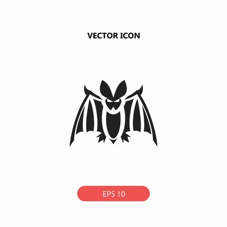 a nocturne: bat vector icon
