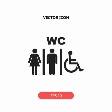 bathroom design: wc vector icon