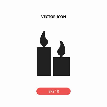 burning: candle vector icon Illustration