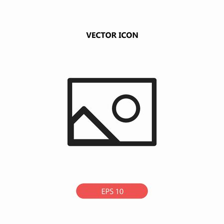 blank photo vector icon