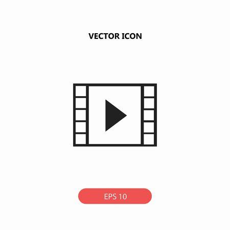 film strip vector icon Illustration