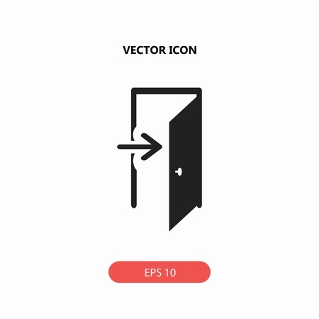 door entry vector icon