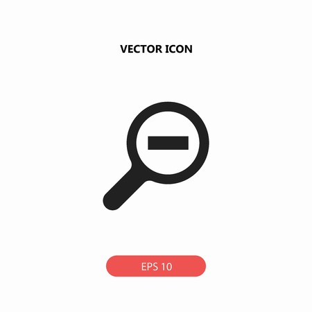 zoom out vector icon Illustration