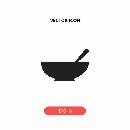 chinese food container: bowl vector icon