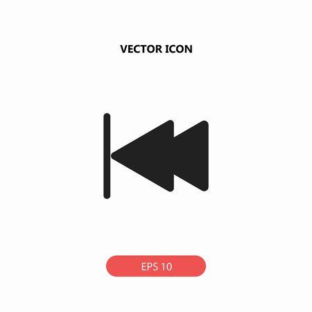 saltar: Saltar hacia atrás icono vector