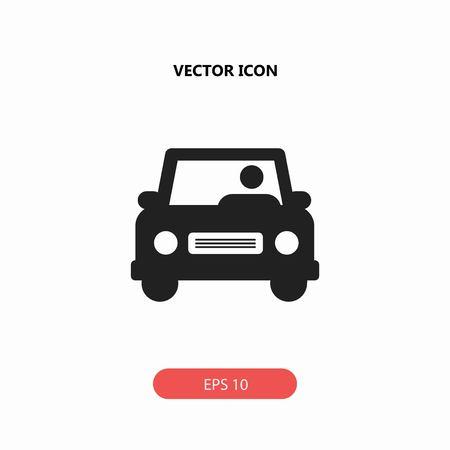 man driving car vector icon