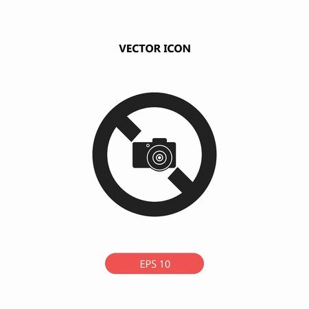 no camera vector icon