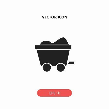miner carts vector icon