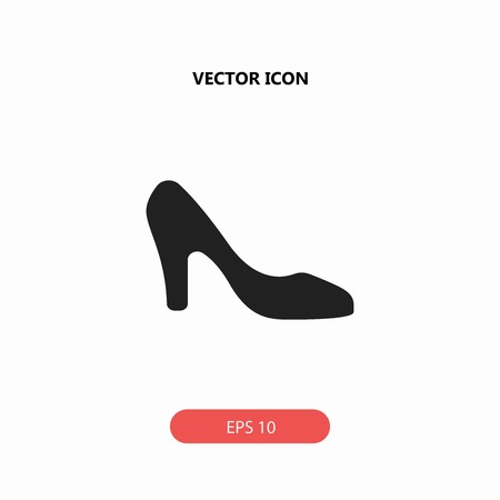 high heels shoes vector icon