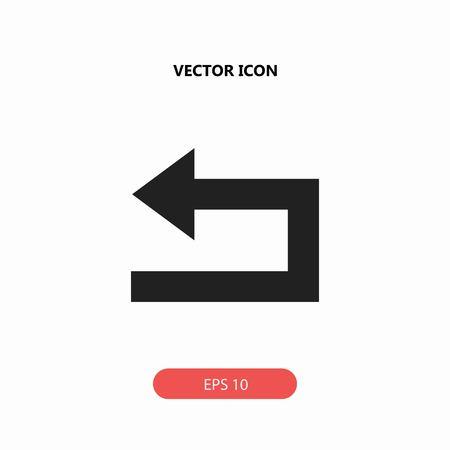 An arrow back vector icon illustration.